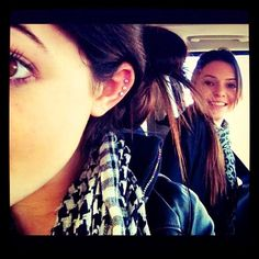 Kylie Jenner. Kendall Jenner.  want kylies cartilege percings -_-