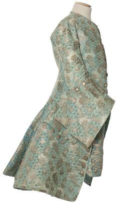 Habit à la française, justaucorps et culotte, France, vers 1730-1740