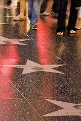 Stars on The Hollywood Walk of Fame in Los Angeles