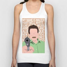 My Name Is Walter Hartwell White Unisex Tank Top by Nikki White - $22.00