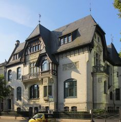 Berlin architecture: the Haus Fromberg. Unexpectedly located on a drab mid-town street, this stunning urban villa is an often overlooked masterpiece of German 19th century architecture.  www.secretcitytravel.com