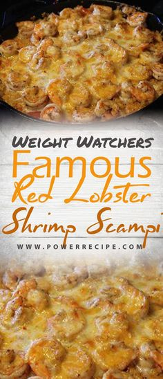 Famous Red Lobster Shrimp Scampi - All about Your Power Recipes - Famous Red Lobster Shrimp Scampi – All about Your Power Recipes - Weight Watchers Shrimp, Weight Watchers Meals, Weigh Watchers, Ww Recipes, Cooking Recipes, Healthy Recipes, Bariatric Recipes, Copycat Recipes, Diabetic Recipes