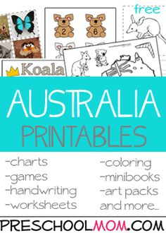 We have some amazing printables to help you take your preschool class Down Under! You'll find Australian Animal ABC's, Classroom projects, handwriting pages, coloring sheets, colorful …