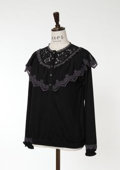 axes femme online shop   Cape-style frill pullover