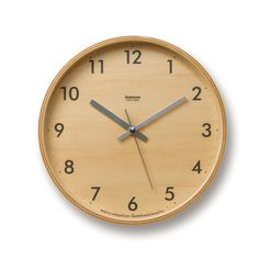 A Lemnos plywood wall clock