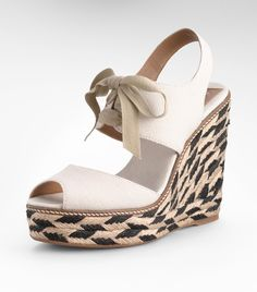 Tory Burch High Wedge. $195.00 http://www.toryburch.com/Linley-High-Wedge-Espadrille/12128401,default,pd.html?dwvar_12128401_color=110&start=5&cgid=shoes-wedges