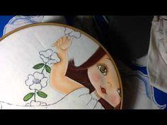 Pintura en tela niña en columpio # 3 con cony - YouTube