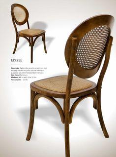 Stof Lar Decorações - Móveis em Madeira de Demolição: - Cadeira Modelo ELYSEE