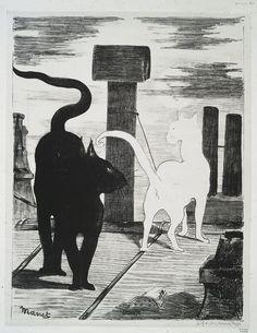 Le rendez-vous des chats, Edouard Manet, lithograph, 1868