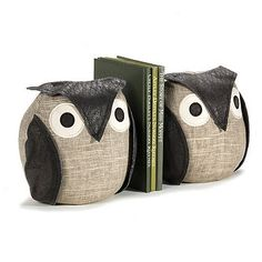 Pair Of Ollie Owl Bookends  by The Literary Gift Company