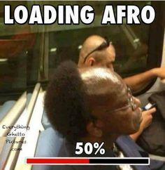 El afro con un módem de 56K