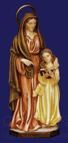 Anne with her daughter Mary, Our Blessed Mother, as a child - Ellen McCarry Hopps St Anne, Joseph, Catholic Saints, Zen, Blessed Mother, Sacred Art, Marie, Princess Zelda, Christian