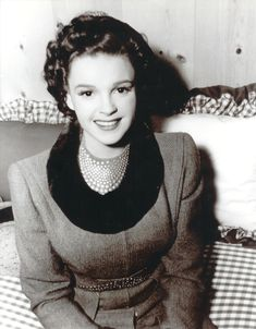 Judy Garland in her dressing room during the shooting of ZIEGFELD GIRL (1941)