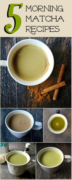 Enjoy the refreshing and healthy energy lift of a morning matcha beverage in the morning.