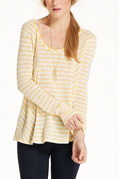 Double Stripe Dolman #anthropologie - I own this and can wear this yellow!