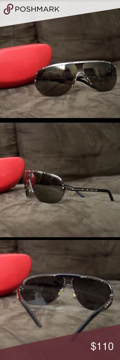 RARE Authentic Mens Valentino Sunglasses Rarely used Valentino Sunglasses! Original case and cloth included. (Case is slightly damaged there is a tear in the side) #dolceandgabbana #d&g #mensstyle #mensfashion #menssunglasses #mensfashion #dandg #dolce #highfashion #designer #DGShades Valentino Accessories Sunglasses