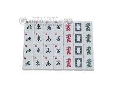 American Mah Jong Sets - White Tiles - White Swan Mah Jongg™ - White Tiles - Aluminum Case - Blue - View Image - GammonVillage Store USA