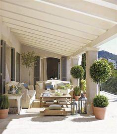 Inspiring Interiors: Summer House in Mallorca House Exterior, Outdoor Decor, Summer House, Outdoor Rooms, Patio Flooring, House Interior Decor, Exterior