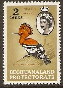 Bechuanaland 1961 2c Bird Definitive Stamp. SG169.