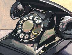 Phone  Watercolor Elaine Clark