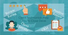 Client testimonials help you to close a deal successfully.  #Clientrelationshipmanagement #CRM #Bpsoftwares