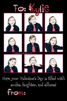 Valentine's Day PHOTO IDEAS for BOYS/kids - personalized cards