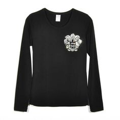 785aab6b71c4 Black Chrome Hearts Diamonds Army Flowers Long T-Shirts Online Store
