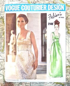 Vogue 2148 - Vintage 1960s Fabiani Evening Dress Patter on Etsy, $215.42 AUD
