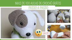 Mais de 100 Aulas de Crochê Online Grátis no blog Amo Fazer Crochê Online Gratis, Crochet Hats, Blog, Hat Crochet, Filing Cabinets, Tips, Places, Knitting Hats, Blogging
