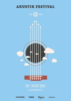 Back and Forth Music Festival by Marcel Bachran, via Behance