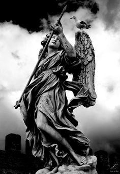 tales-of-the-night-whisperer: We Belong To the Sky by Mauro Carli Edited by Me (Please do not remove credit) Architecture Design Concept, Architecture Tattoo, Cemetery Angels, Cemetery Art, Sculpture Art, Sculptures, Roman Sculpture, Heaven Tattoos, Religious Tattoos