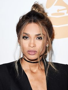 A Ciara Hairstyle for Every Day of the Week - Monday: Try a messy bun with a few face-framing pieces.