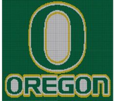 Oregon Ducks Crochet Pattern Afghan Graph