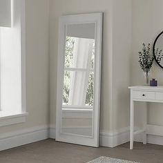 White Midi Leaner Mirror | Dunelm