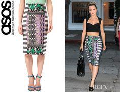 Mena Suvari's ASOS AFRICA Pencil Skirt- great DIY...