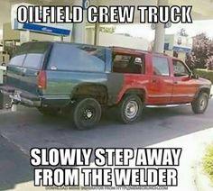 Haha got to love some of the things we do.  #OilfieldWorker #RoughneckLifestyle #TheRoughneck #TheRoughneckMagazine #CrewTruck #Roughneck #Oilfield #OilAndGas #OilfieldLifestyle #Welder