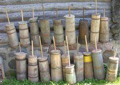 wooden butter churns