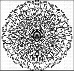 Mandala Adult Colouring Page Printable Instant Download #47 by ColourSerenity on Etsy