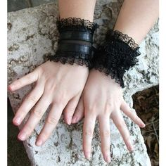 Items similar to WILD CAT black wrist cuffs steampunk cuffs gothic... ❤ liked on Polyvore featuring accessories, gloves, steam punk gloves, gothic gloves, steampunk gloves, goth gloves and victorian gloves