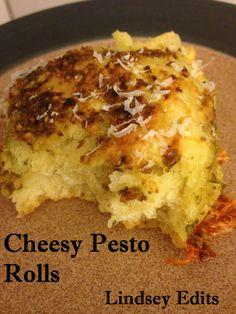 Lindsey Edits: Cheesy Pesto Rolls