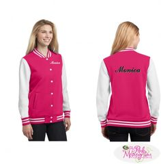 Personalized Baseball Letterman Jackets in All Colors  Apparel & Accessories www.thepinkmonogram.com