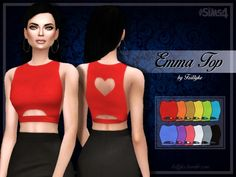 Emma Top at Trillyke via Sims 4 Updates Check more at http://sims4updates.net/clothing/emma-top-at-trillyke/