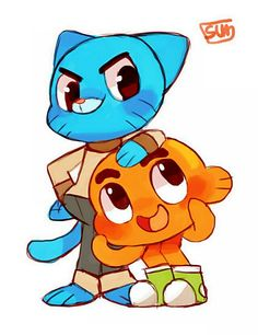 Amazing World Of Gumball!. Friendship is 4∞… Cartoon Network Shows, Cartoon Shows, Cute Cartoon, Amazing Gumball, Anna E Elsa, The Last Unicorn, World Of Gumball, Disney Cartoons, Darwin