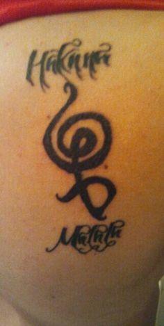 Hakuna matata tattoo disney tattoo pinterest tatouages - Hakuna matata tatouage ...