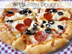 No fail Pizza Dough!  I'm serious, you can't mess this one up!!  Delicious!