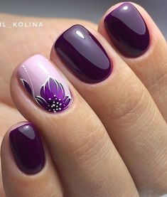 Stylish Nail Art Design & Images Easy to do at Your Home - Naildesign Fullcover . - Stylish Nail Art Design & Images Easy to do at Your Home – Naildesign Fullcover – - Stylish Nails, Trendy Nails, Winter Nails, Summer Nails, Spring Nails, Nagellack Design, Nail Art Designs Images, Purple Nail Art, Purple Glitter
