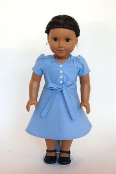 Depression Era Hunger Games Katniss 18 inch American Girl Doll Dress. $35.00, via Etsy.    for Piper