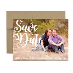 classic photo magnet. Click through to find matching games, favors, thank you cards, inserts, decor, and more.  Or shop our 1000+ designs for all of life's journeys. Weddings, birthdays, new babies, anniversaries, and more. Only at Aesthetic Journeys