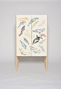 david ericsson exhibits the wooden tonder collection in sweden - the whale cabinet Kids Furniture, Painted Furniture, Furniture Design, Commercial Furniture, Furniture Inspiration, Danish Design, Decorative Items, Art Projects, Cool Designs