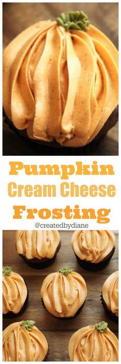 Pumpkin Cream Cheese Frosting @createdbydiane